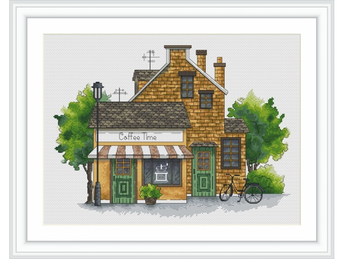 Coffee House Cross Stitch Pattern фото 1