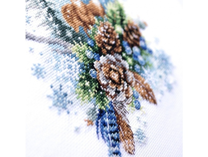 Winter Forest Spirit Cross Stitch Kit фото 10