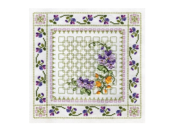 Vibrant Flowers Cross Stitch Kit фото 1