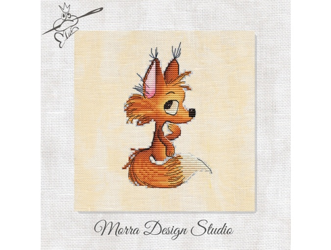 Little Fox Cross Stitch Pattern фото 1