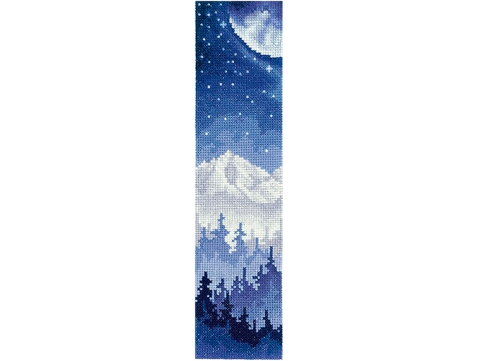 Bookmarks. Moon over the Forest Cross Stitch Kit фото 1