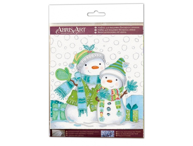 Snow Friends Bead Embroidery Kit фото 2