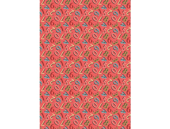 Fat Quarter Peppy, print Numbers on Red фото 1