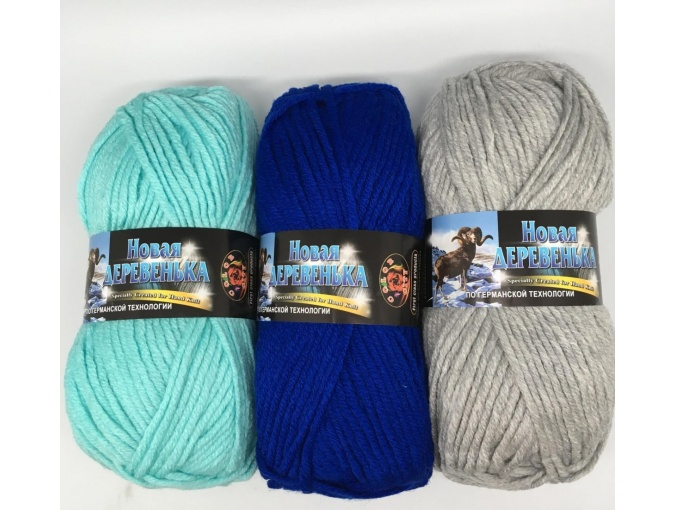 Color City New Village 50% Merino Wool, 50% Acrylic, 10 Skein Value Pack, 1000g фото 1