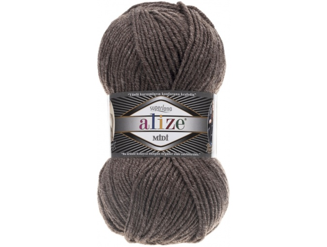 Alize Superlana Midi 25% Wool, 75% Acrylic, 5 Skein Value Pack, 500g фото 26