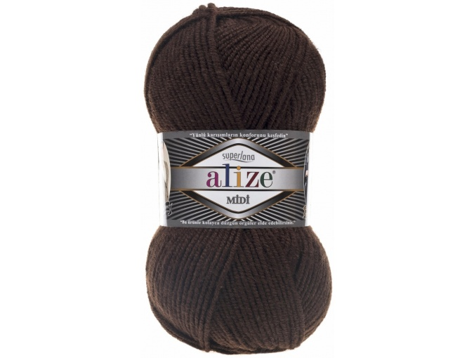 Alize Superlana Midi 25% Wool, 75% Acrylic, 5 Skein Value Pack, 500g фото 5