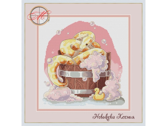 Evening Bath Cross Stitch Pattern фото 1
