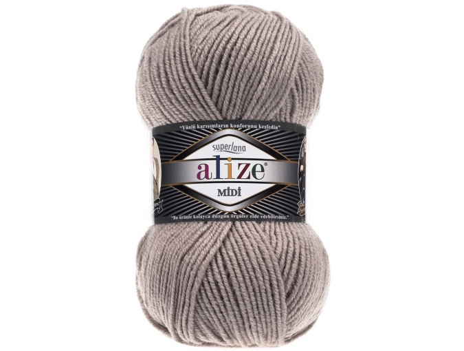 Alize Superlana Midi 25% Wool, 75% Acrylic, 5 Skein Value Pack, 500g фото 38