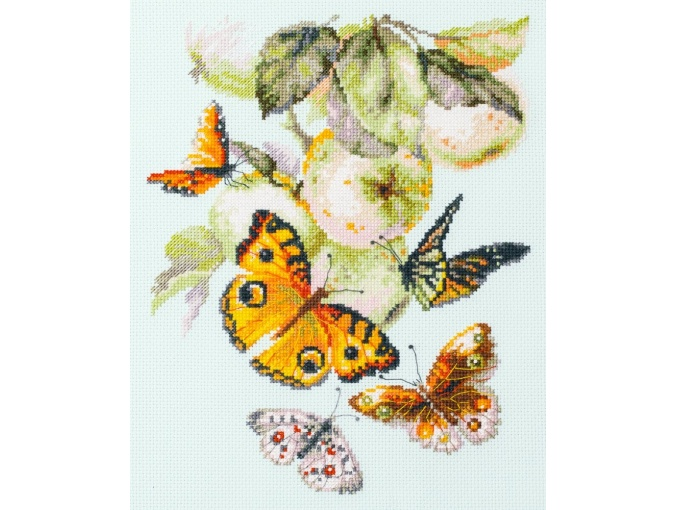Butterflies and Apples Cross Stitch Kit фото 1