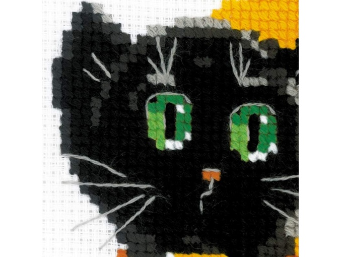 Black Cat Cross Stitch Kit фото 2