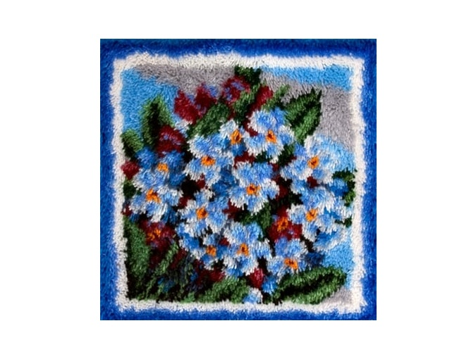 Blue Flowers Latch Hook Kit фото 1