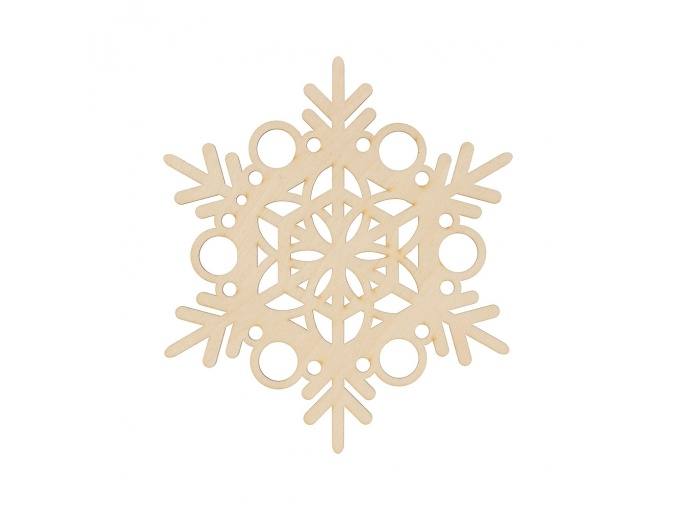Wooden Snowflake 3 фото 1