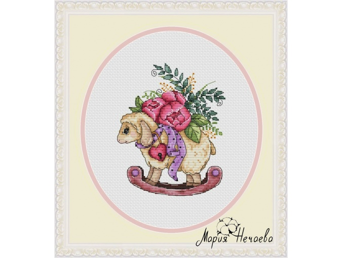 Rocking Lamb Cross Stitch Pattern фото 1