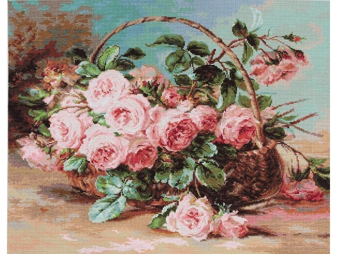 Basket of Roses Cross Stitch Kit фото 1