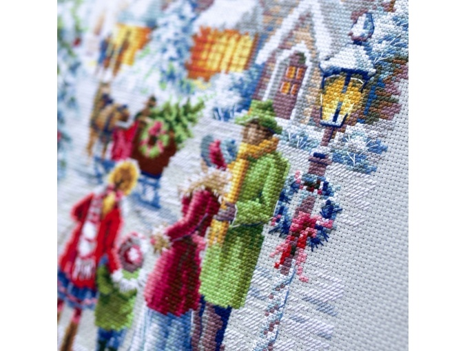 Christmas Eve Cross Stitch Kit by Magic Needle фото 11