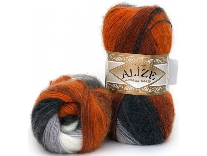 Alize Angora Gold Batik, 10% mohair, 10% wool, 80% acrylic 5 Skein Value Pack, 500g фото 23