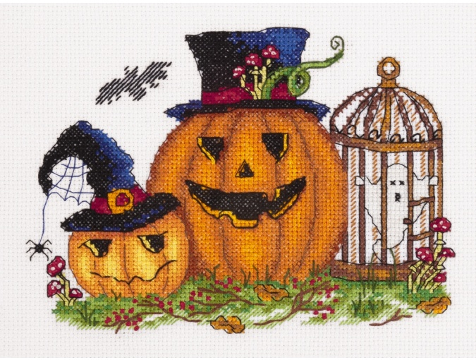 Scary Pumpkins Cross Stitch Kit фото 1