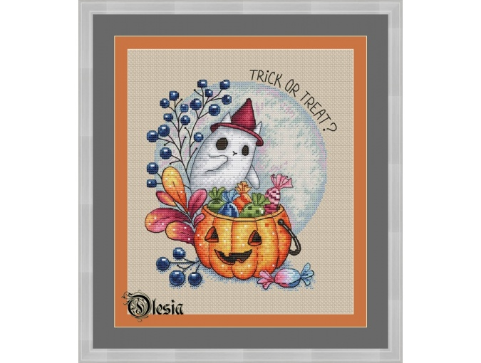 Trick or Treat Cross Stitch Pattern фото 1
