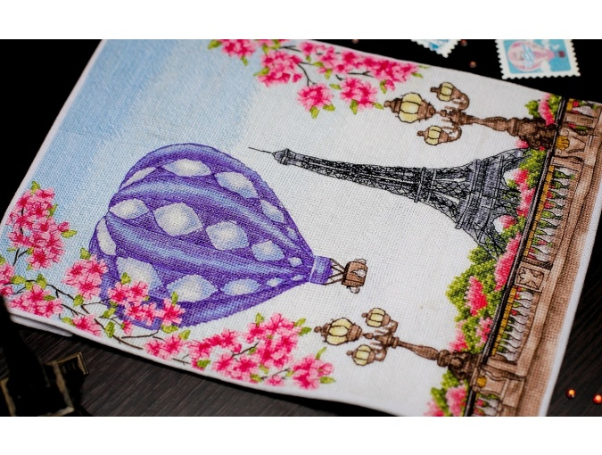 Spring in Paris Cross Stitch Chart фото 6