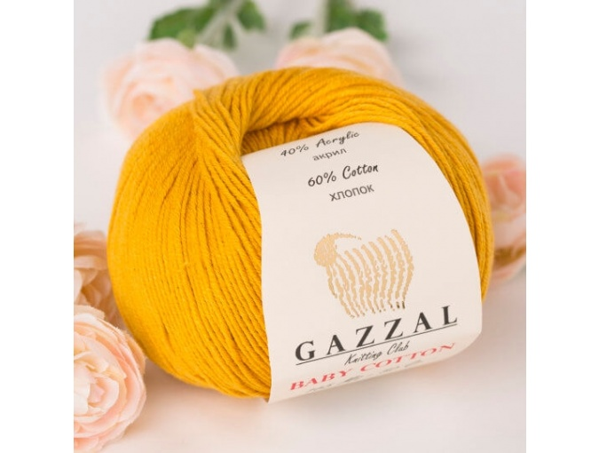 Gazzal Baby Cotton, 60% Cotton, 40% Acrylic 10 Skein Value Pack, 500g фото 76