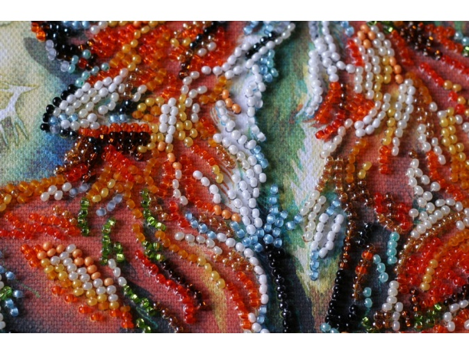 Small Foxes Bead Embroidery Kit фото 5