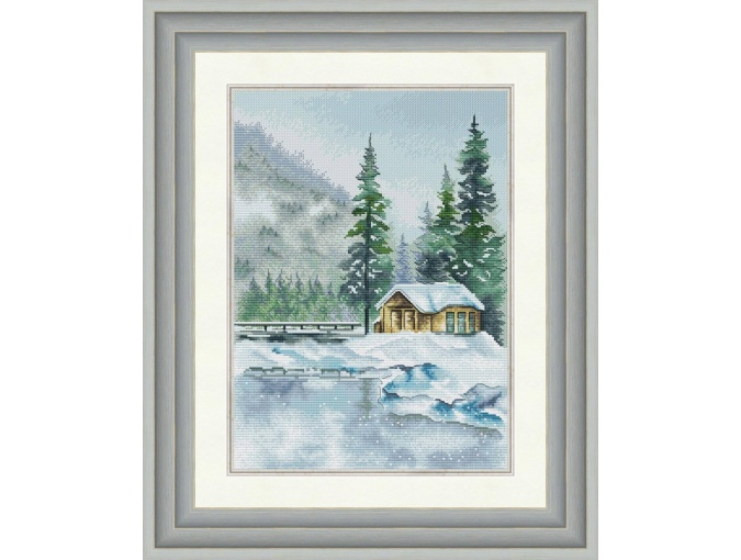 The Lake House Cross Stitch Pattern фото 1