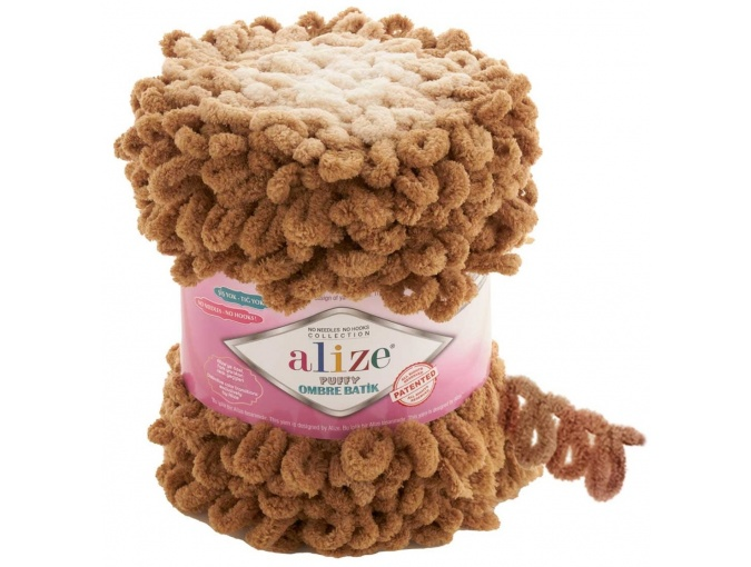 Alize Puffy Ombre Batik, 100% Micropolyester 1 Skein Value Pack, 600g фото 5