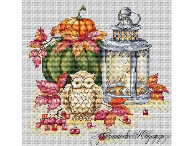 Autumn Lights Cross Stitch Pattern фото 1