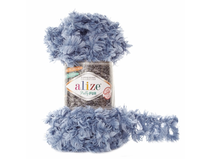 Alize Puffy Fur, 100% Polyester 5 Skein Value Pack, 500g фото 8