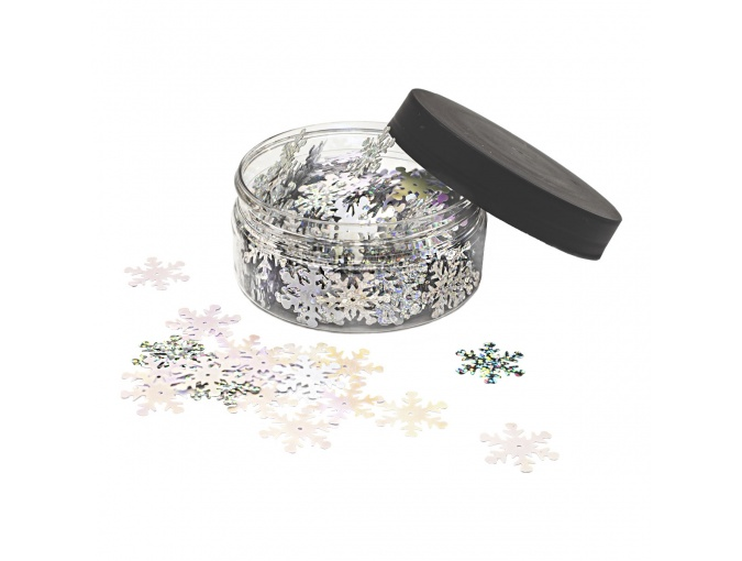 Large Set of  Sequins Snowflakes, 24mm фото 1