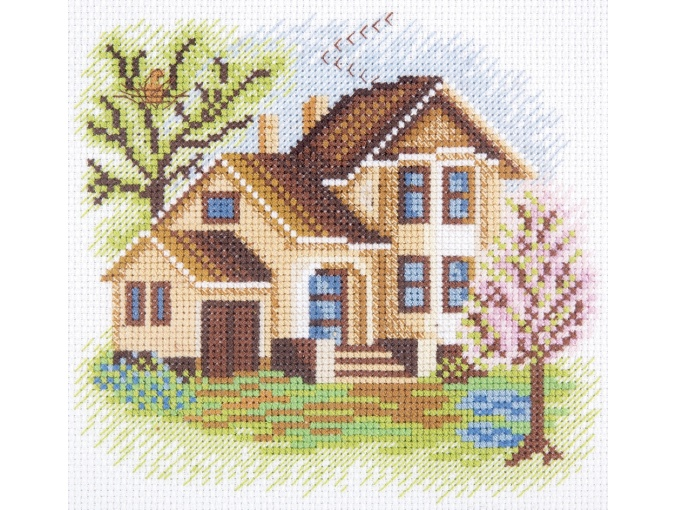 House on Cherry Lane Cross Stitch Kit фото 1