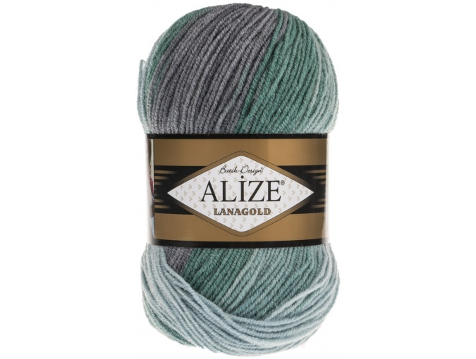 Alize Lanagold Batik 49% Wool, 51% Acrylic, 5 Skein Value Pack, 500g фото 17