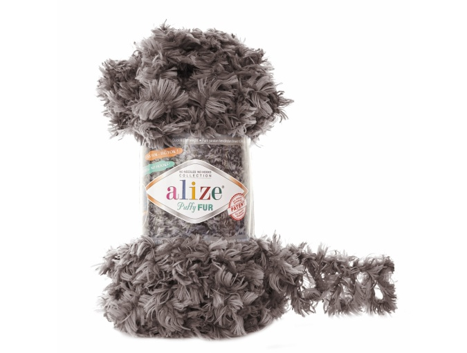 Alize Puffy Fur, 100% Polyester 5 Skein Value Pack, 500g фото 7