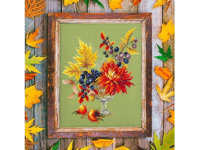Autumn Bouquet Cross Stitch Kit фото 3