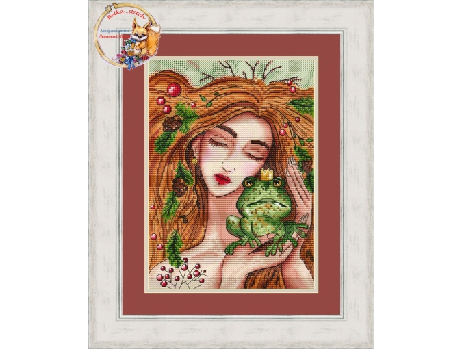 Witch and Frog Cross Stitch Pattern фото 1