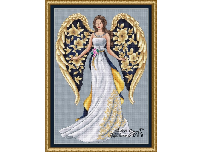 Lady with Wings Cross Stitch Pattern фото 1