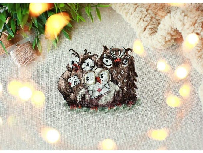 Weasley Family Owls Cross Stitch Pattern фото 3