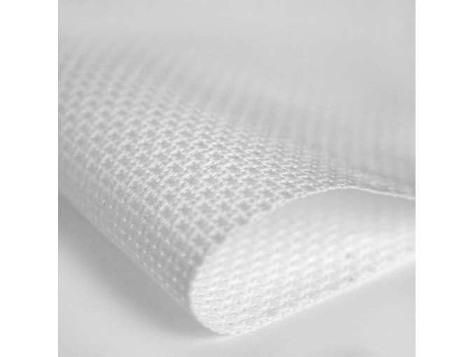 11 Count Perl-Aida Fabric by Zweigart 1007/100 White фото 1
