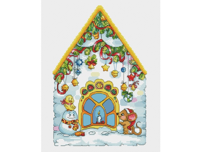New Year's house of the Mice Cross Stitch Pattern фото 1