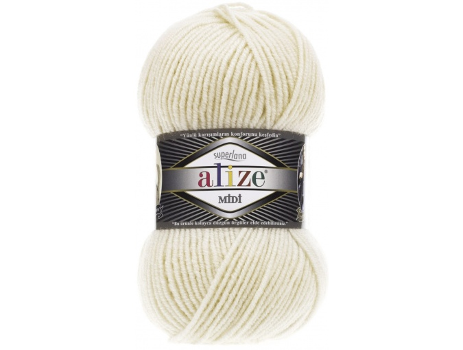Alize Superlana Midi 25% Wool, 75% Acrylic, 5 Skein Value Pack, 500g фото 39