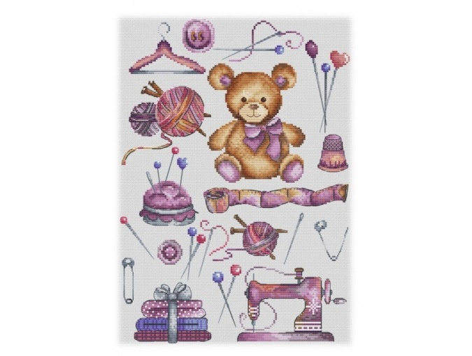 Teddy Bear Workshop Cross Stitch Pattern фото 1