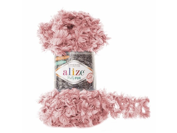 Alize Puffy Fur, 100% Polyester 5 Skein Value Pack, 500g фото 4