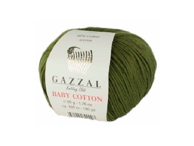 Gazzal Baby Cotton, 60% Cotton, 40% Acrylic 10 Skein Value Pack, 500g фото 108