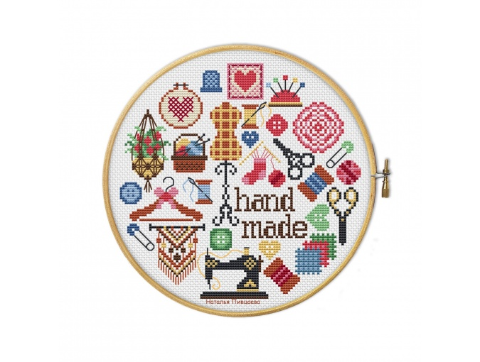 Crafts Round Sampler Cross Stitch Pattern фото 1