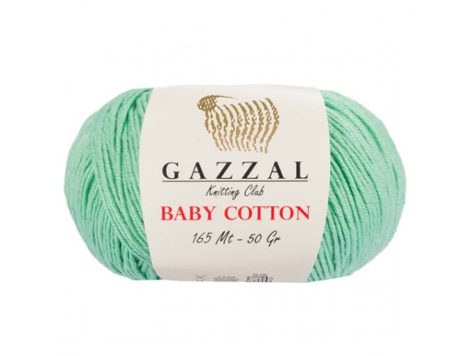 Gazzal Baby Cotton, 60% Cotton, 40% Acrylic 10 Skein Value Pack, 500g фото 32