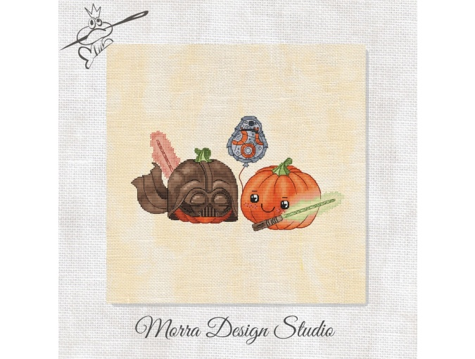 Pumpkin Wars Cross Stitch Pattern фото 1