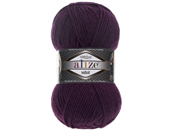 Alize Superlana Midi 25% Wool, 75% Acrylic, 5 Skein Value Pack, 500g фото 15