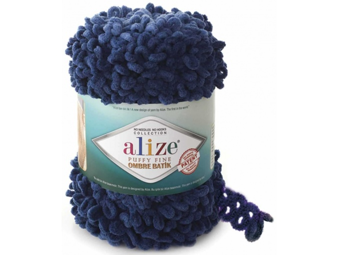 Alize Puffy Fine Ombre Batik, 100% Micropolyester 1 Skein Value Pack, 500g фото 7