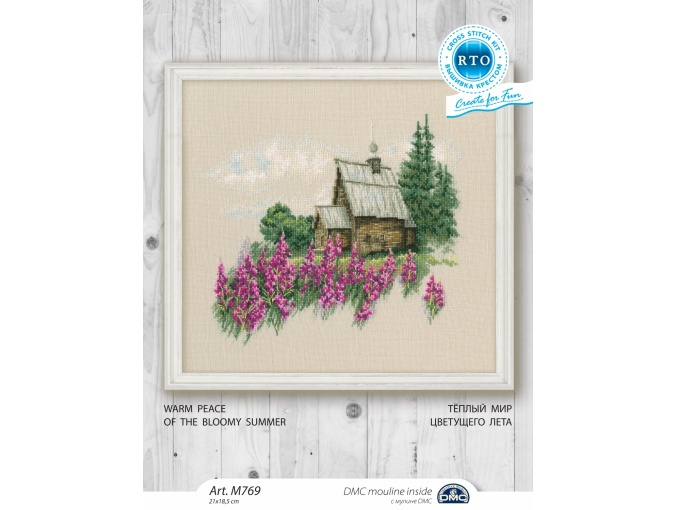 Warm Peace of the Bloomy Summer Cross Stitch Kit фото 2