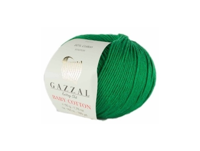 Gazzal Baby Cotton, 60% Cotton, 40% Acrylic 10 Skein Value Pack, 500g фото 94